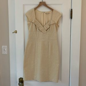 Vintage Nanette Lepore Cream Ruffle Dress